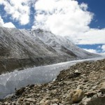 Meltwater from Tibetan Glaciers Flooding Pastures