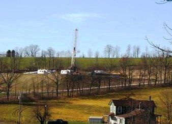 Hydrofracking Drilling Rig in Pennsylvania, U.S.