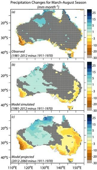 Precipitation Changes in Australia