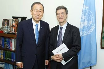 Ban Ki-moon and Jeffrey Sachs