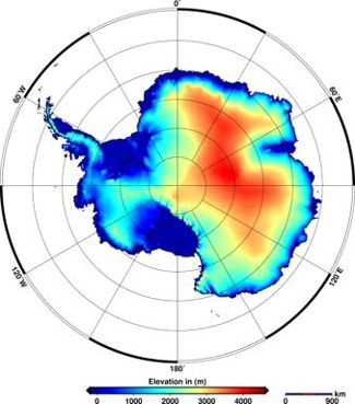 Antarctica's Elevation Map