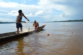 Fishermen in Orinoco River Basin, Colombia