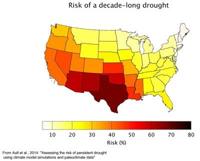 Risk of Decade-long Drought in U.S. © Cornell University