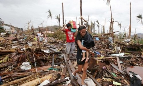 Aftermath of Typhoon Haiyan in Philippines